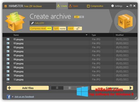 Скріншот Hamster Free ZIP Archiver для Windows 8