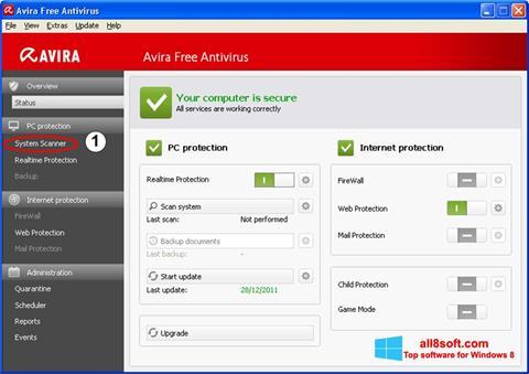 Скріншот Avira для Windows 8