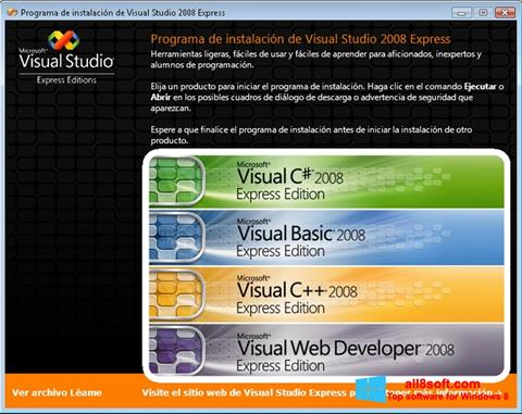 Скріншот Microsoft Visual Studio для Windows 8