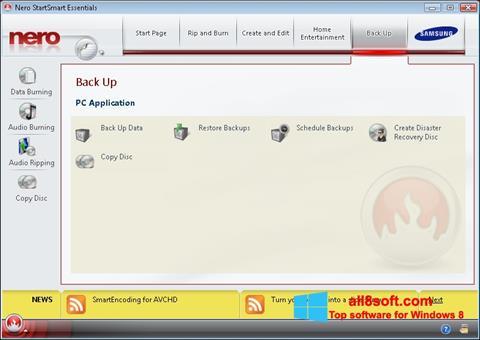 Скріншот Nero для Windows 8