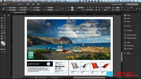 Скріншот Adobe InDesign для Windows 8