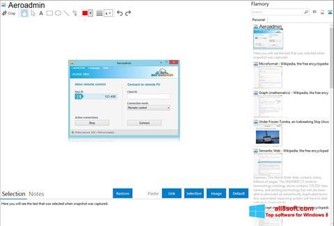 Скріншот AeroAdmin для Windows 8